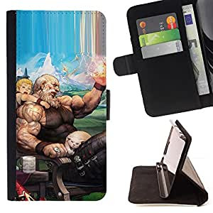 DEVIL CASE - FOR Apple Iphone 6 PLUS 5.5 - Zeus Olympos God Cartoon Drawing Cat Art - Style PU Leather Case Wallet Flip Stand Flap Closure Cover
