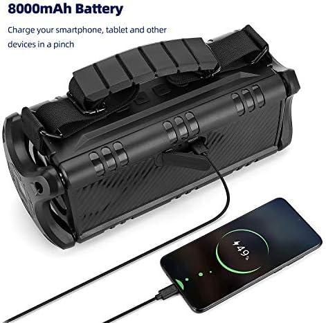 50W(70W Peak) Wireless Bluetooth Speakers Built-in 8000mAh Battery Power Bank, W-KING Outdoor Portable Waterproof TWS, DSP, NFC Speaker, Powerful Rich Bass Loud Stereo Sound 51Zm9yTQO8L