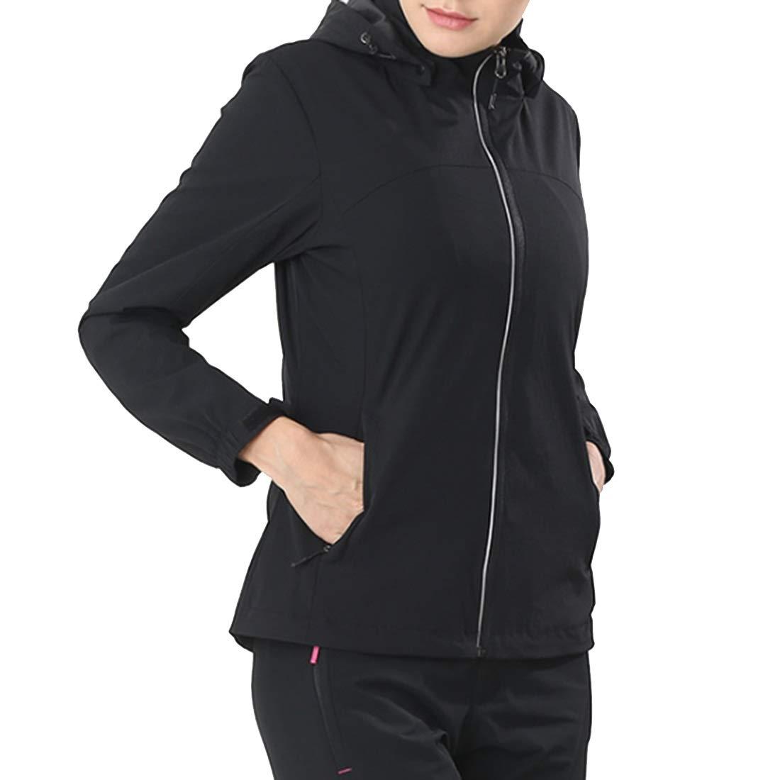 e20c9d1e9 2 L Cvthfyky Women's Hooded Windproof Rain Windbreaker Outdoor Raincoat  Jacket Zipper nvshkb2601-3-in-1 Jackets
