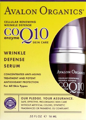 Avalon Organics CoQ10 Wrinkle Defense Serum, 0.5 Ounce (Pack of ()