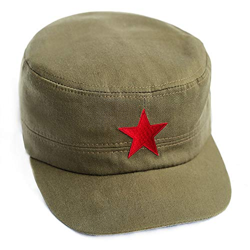 242d827be58 Che Guevara Store Military Hat Army Green Adjustable Embroidered Red Star