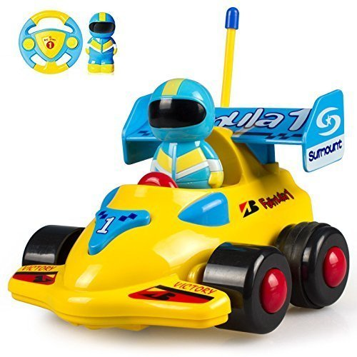 (Cartoon R/C Formula Race Car Radio Control Toy for Toddlers by FMTStore)