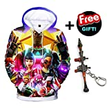 Fleece Fortnite Unisex 3D Printed Jumpers Legend Hoodie for Youth unisex-teen Big Tall Little Kids Boys Girls Digital Battle Royale Sweatshirts Pullovers Tops Hooded Novel Pocket (Q1034YH03, M)