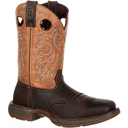 Durango Rebel Steel Toe Waterproof Western Boot Brown and Tan