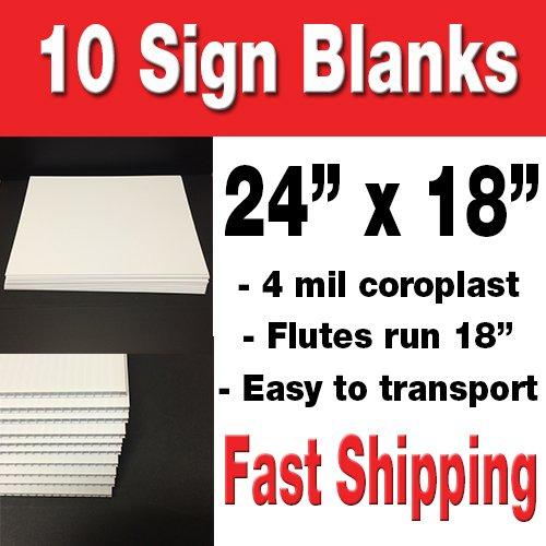10 Blank Yard Signs