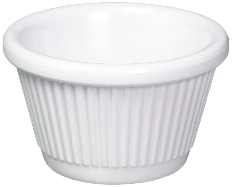 Winco Fluted Ramekins, 1.5-Ounce, White