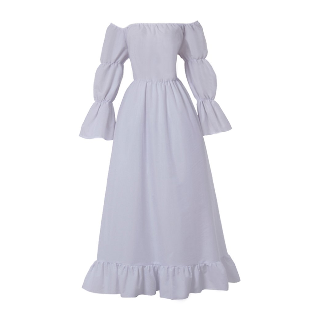 Women's Renaissance Plus Size White Cosplay Chemise - DeluxeAdultCostumes.com