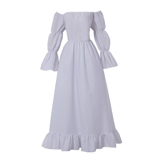 Amazon.com: CosplayDiy Women\'s Medieval Costume Chemise ...