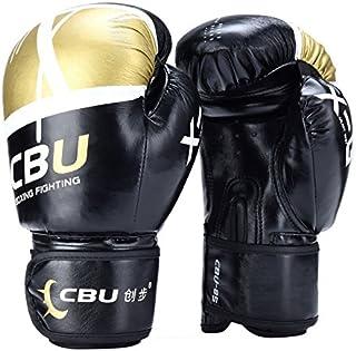 QUANGJISH Gants de Boxe Adulte Muay Thai Kickboxing Sparring Entrainement Mitaines