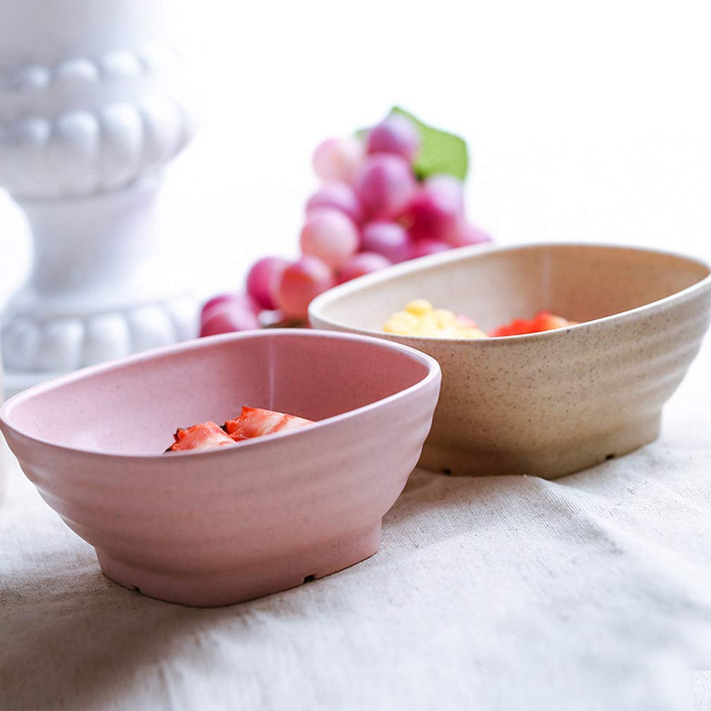 Noodle Microwave /& Dishwasher Safe Cereal Bowls Lightweight Degradable Wheat Straw Dinnerware for Salad,Soup Healthy Eco-Friendly Bowl Set 4