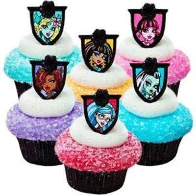 CakeDrake Monster High Fear Friends Cupcake Rings - 24 pc