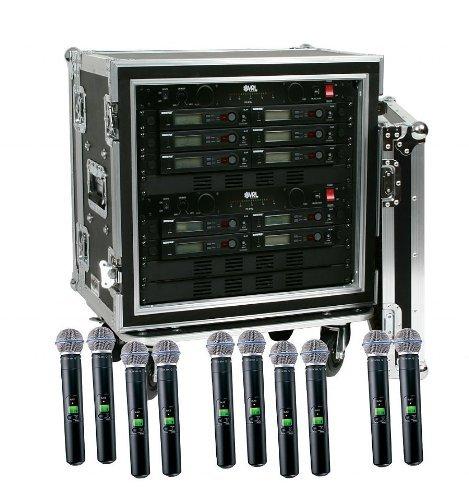 Shure SLX24/Beta58 10-Pack Wireless Handheld Microphone System Beta58 Handheld Wireless Microphone System