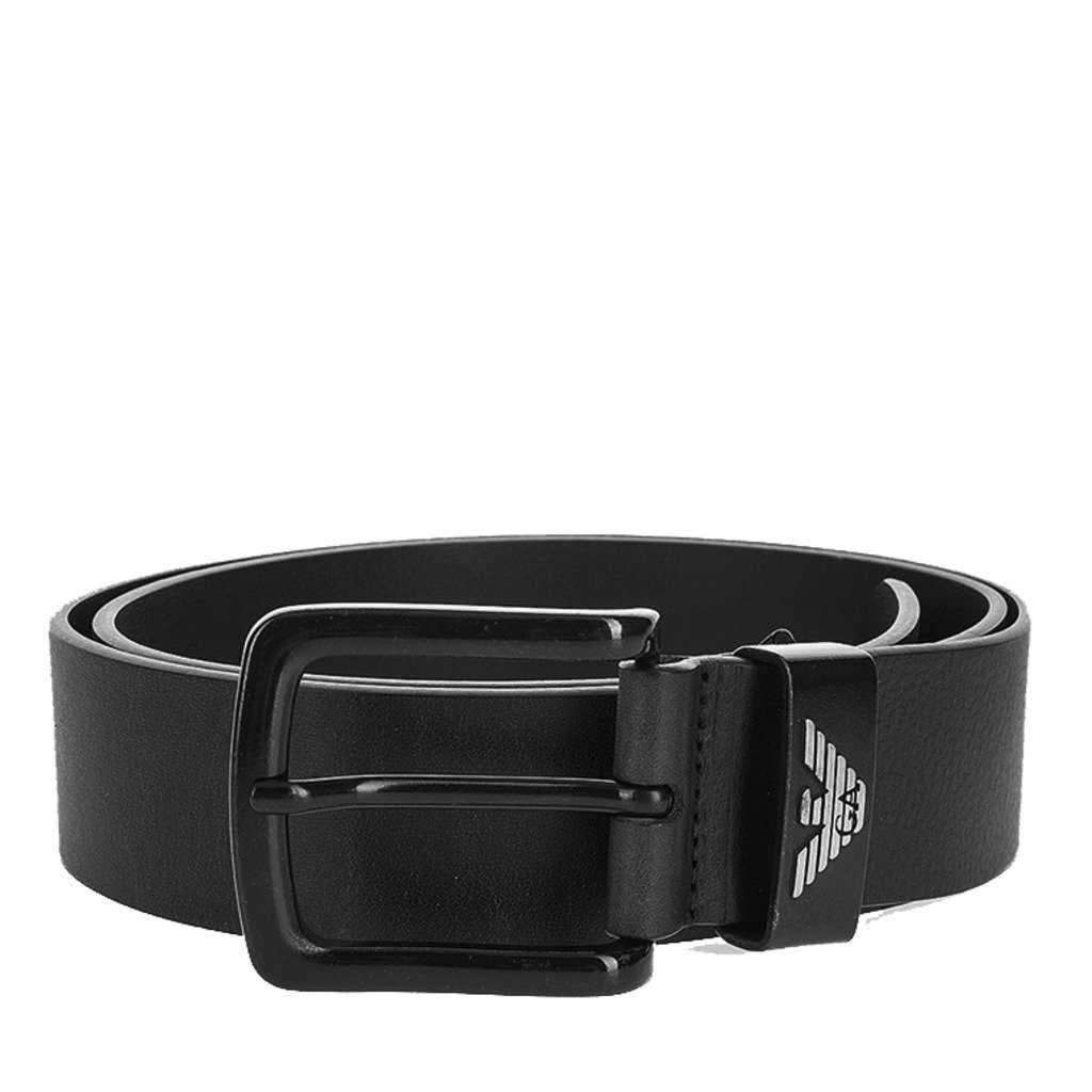 arriva nuovo vendite all'ingrosso scarpe temperamento Emporio Armani Uomo cintura di linguetta in pelle Nero 38: Amazon ...