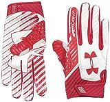 Under Armour Men's Spotlight Football Gloves,Red (600)/Red, Small/Medium