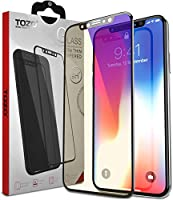 TOZO for iPhone X Screen Protector Glass [ 3D Full Frame ] Technology Premium Tempered 9H Hardness 2.5D PET [Soft Edge Hybrid] Super Easy Apply from TOZO