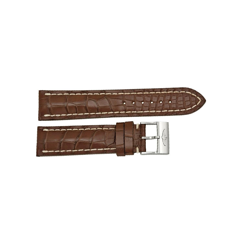 Breitling ベルト 茶色 クロコダイル レザー 22mm 20mm ステンレススチール製バックル付き  B00886Y22U
