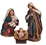 StealStreet SS-G-28297 3 Piece 24'' Polyresin Holy Family Statue Figurine Nativity Set