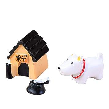 3pcs / Set Miniatura Elefante Gato Artificial Mini Erizo Perro Cerdo Burro Animal de la Historieta Figurita Micro Paisaje decoración de la Tabla Regard: ...