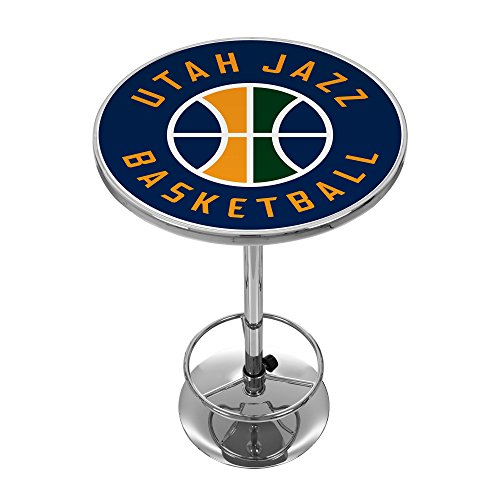 NBA Utah Jazz Chrome Pub Table by Trademark Global