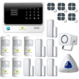 Golden Security Touch Screen Keypad LCD Display Wifi GSM IOS Android APP Wired Home Burglar Security Alarm System Kit G90B01