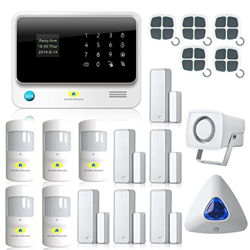 Golden-Security-Touch-Screen-Keypad-LCD-Display-Wifi-GSM-IOS-Android-APP-Wired-Home-Burglar-Security-Alarm-System-Kit-G90B01