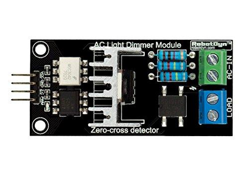 GENUINE RobotDYN - PWM Ac Programmable Light Dimmer 110V - 220V AC Module  Controller Board For Arduino, STM, ARM, AVR, Raspberry Compatible 50/60hz