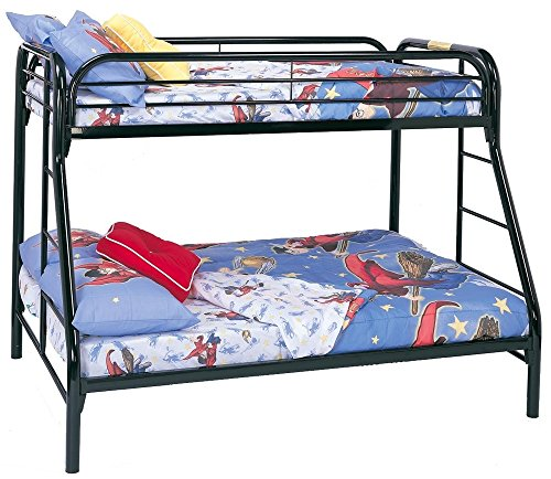 UPC 021032017040, Coaster Twin/Full Bunk Bed, Black