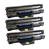 PayForLess 3PK Compatible Black Toner Cartridges 85A/CE285A New Laser Toner Cartridge for HP Laserjet Pro M1132 M1210 M1212nf P1102 P1102W P1100 M1214nfh M1217nfw M1218nf M1219nf High Page Yield Printers