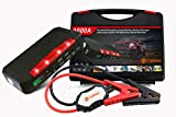 Calibee 1000A Peak 15000mAh Portable Car Jump Starter, Battery Booster Pack and Power Supply with LCD Display, Smart Cables, LED Flashlight and USB & Laptop Charging
