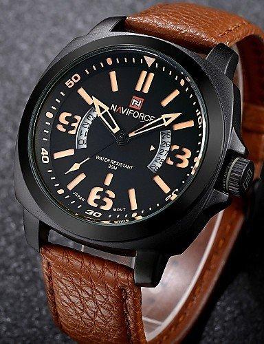PEISHI J naviforce relojes hombre reloj de pulsera multifunción impermeable cuarzo negocio relojes idea de regalo