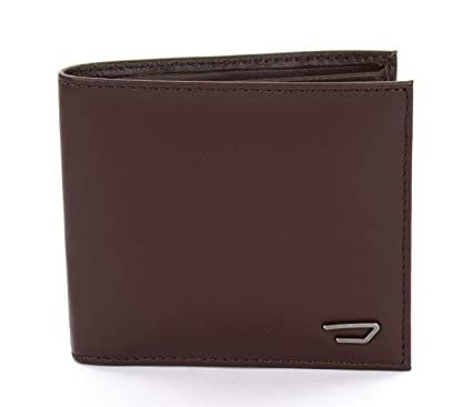 Diesel Mens small wallet in leather Hiresh S X05081 brown ...