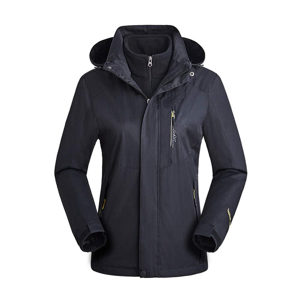 Woman Camping Hiking Cycling Running Windproof Jacket Outdoor Ra Waterproof Casual Sports Coat Black