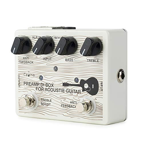 Caline Acoustic Guitar Pedal Electric Preamp DI Box Effects Reverb Boost Pedals White CP-67 (Best Acoustic Guitar Pedals 2019)