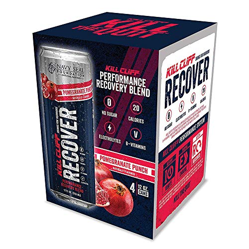 Kill Cliff Recovery Drink, Pomegranate Punch, 12 Oz Cans, 4 Count