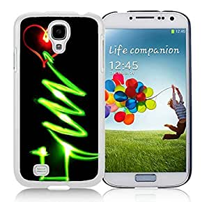 Personalization Glow Samsung S4 TPU Protective Skin Cover Christmas Tree White Samsung Galaxy S4 i9500 Case 1