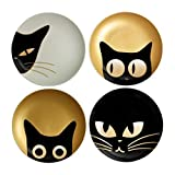 Plate 6.5' Cat Eyes Set of 4 Assorted Designs by...