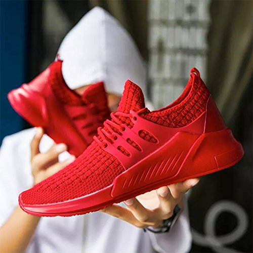 Men Jogging Hiking Sports Running Fishing Oumanke Sneakers Traveling Breathable Shoes Red5 Yoga R7wxgFq