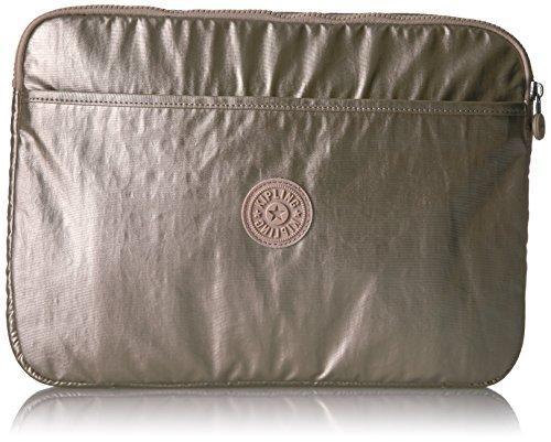 13 Inch Metallic Laptop Sleeve Messenger Bag Bag, SPARKLEY GOLD, One Size