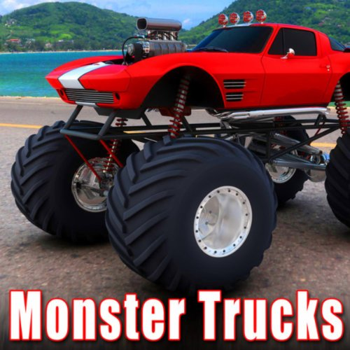 monster truck approaches head on at slow speed stops shuts off sound ideas mp3. Black Bedroom Furniture Sets. Home Design Ideas