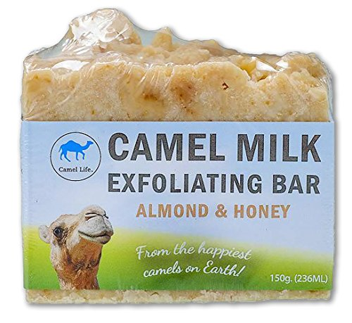 Camel Life / Camel Milk Exfoliating Bar – Almond and Honey / luxurious exfoliating bar soap designed for him and her / creamy lather and texture / Boosts cell regeneration (Luxurious Camel)