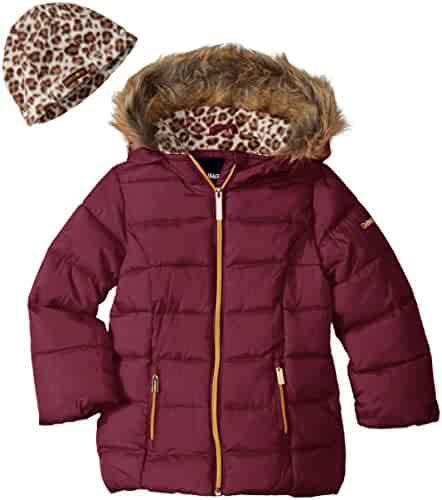 Limited Too Girls' Too Faux Down Puffer W/Polar Fleece Hat