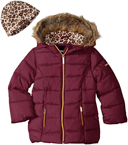 Limited Too Girls Too Faux Down Puffer W/Polar Fleece Hat