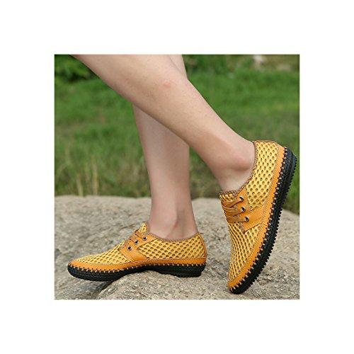 d0ae152532 Galleon - MOHEM Men s Poseidon Casual Water Shoes Mesh Walking Quick Drying Hiking  Shoes(ss03166095Yellow)