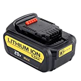 URPOWER 20V 4000mAh Power Tool Replacement Batteries for Dewalt DCB200-2 DCB180 DCB200 DCB203 DCB204-2 DCB205-2 DCB205 DCD740B DCD740 DCD780 DCD780B DCD780C2 DCD780L2 DCD785C2 DCD785L2 DCB181