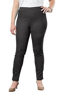 fb8eb98fc03 Jessica London Women s Plus Size Tall Straight Leg Stretch Denim Jeggings