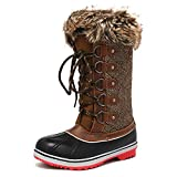 DREAM PAIRS Women's River 1 Brown Knee High Winter Snow Boots Size 9