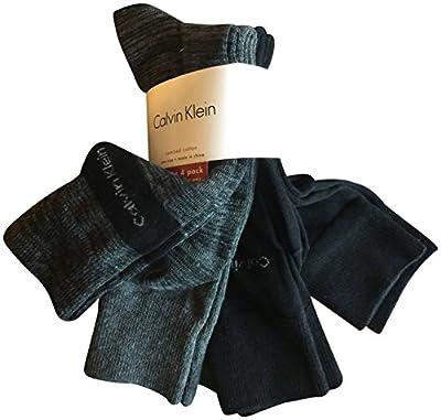 Calvin Klein Men's Dress Socks Combed Cotton 4 Pack Black Grey