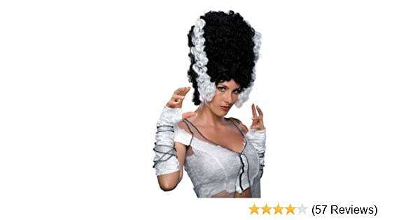 Amazon.com: Rubies Monster Bride Wig, Black/White, One Size: Toys & Games