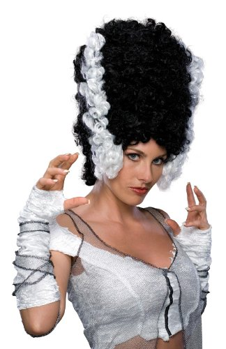 Rubie's Costume Monster Bride Wig, Black/White, One Size - Costumes Bride Of Frankenstein