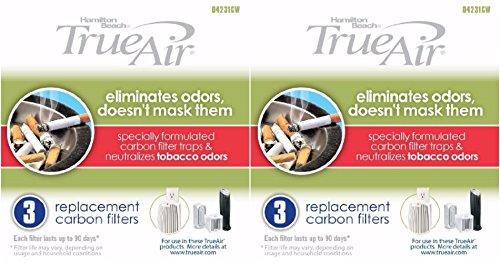 Hamilton Beach True Air Carbon Filter for Tobacco Odors 6-Pa